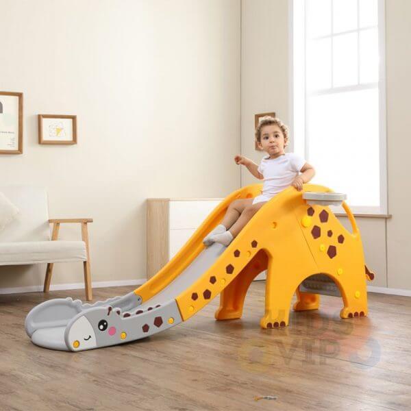 kidsvip giraffe slide kids toddlers indoor outdoor yellow 12 1