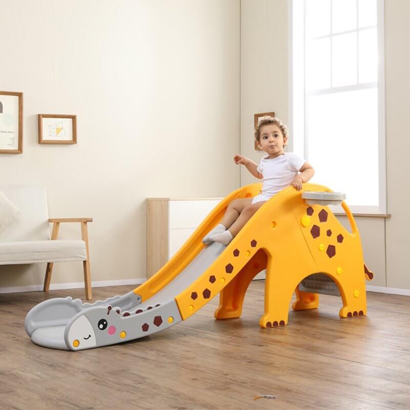 kidsvip giraffe slide kids toddlers indoor outdoor yellow 12