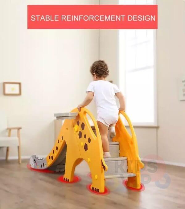kidsvip giraffe slide kids toddlers indoor outdoor yellow 2