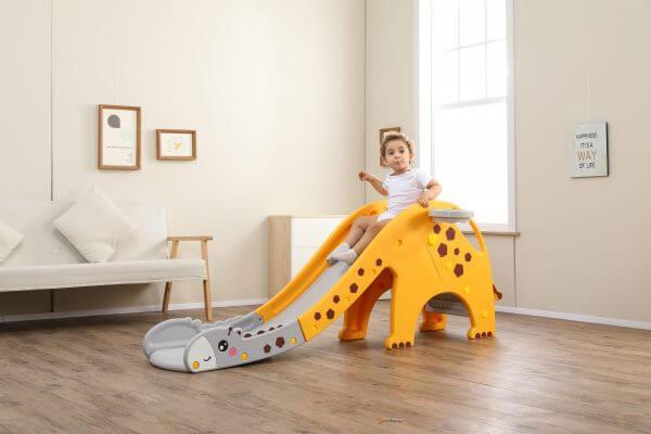 kidsvip giraffe slide kids toddlers indoor outdoor yellow 7 scaled