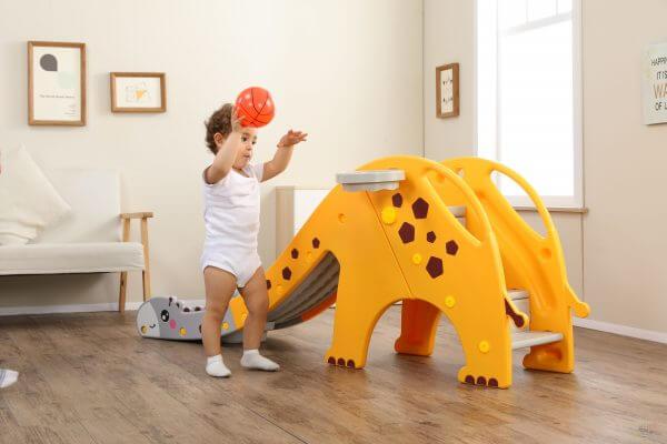 kidsvip giraffe slide kids toddlers indoor outdoor yellow 9 scaled