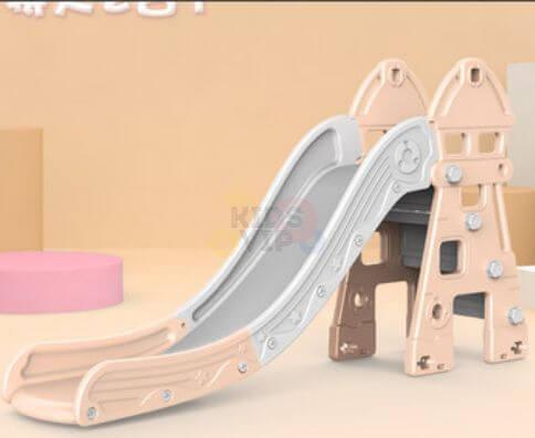kidsvip kids toddlers infants indoor outdoor caste slide full step pink 1