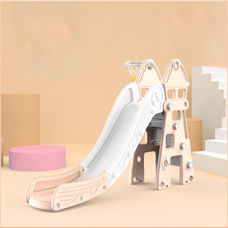kidsvip kids toddlers infants indoor outdoor caste slide full step pink 3