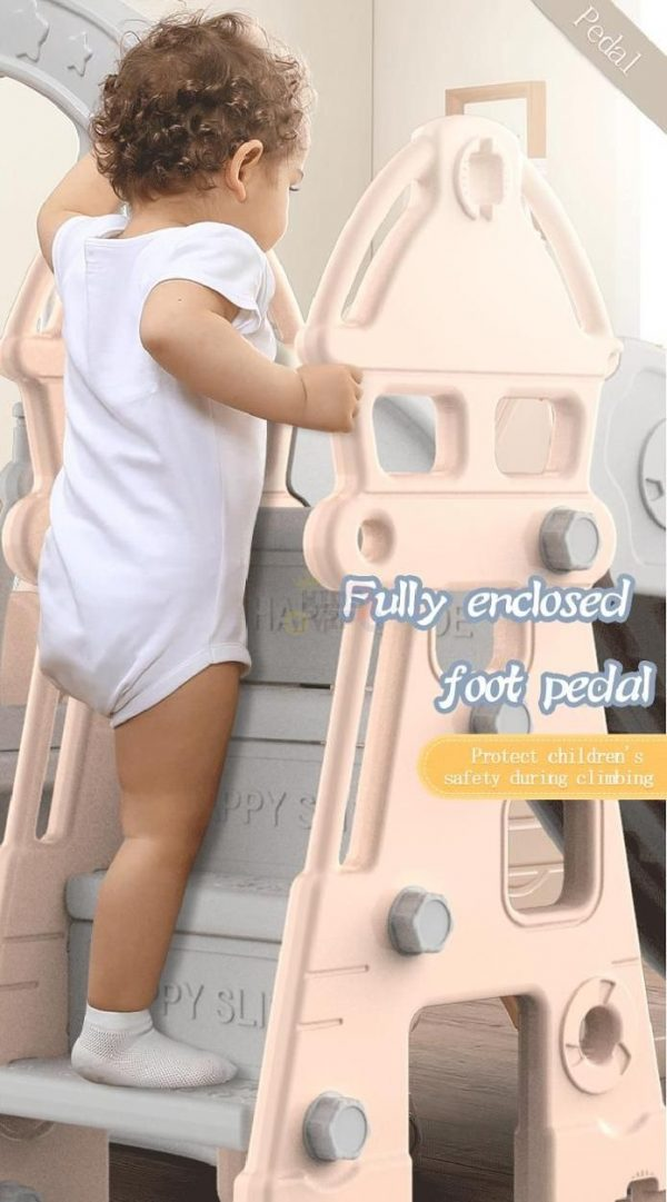 kidsvip kids toddlers infants indoor outdoor caste slide full step pink 4