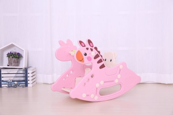 kidsvip rocking deer zeebra chair toddlers infants pink 3