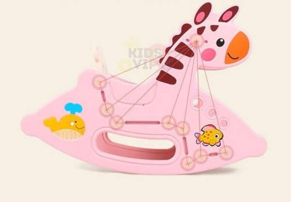 kidsvip rocking deer zeebra chair toddlers infants pink 4