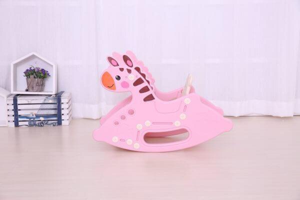 kidsvip rocking deer zeebra chair toddlers infants pink 5