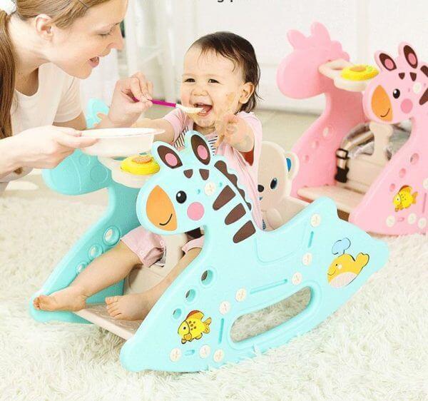 kidsvip rocking deer zeebra chair toddlers infants pink 7