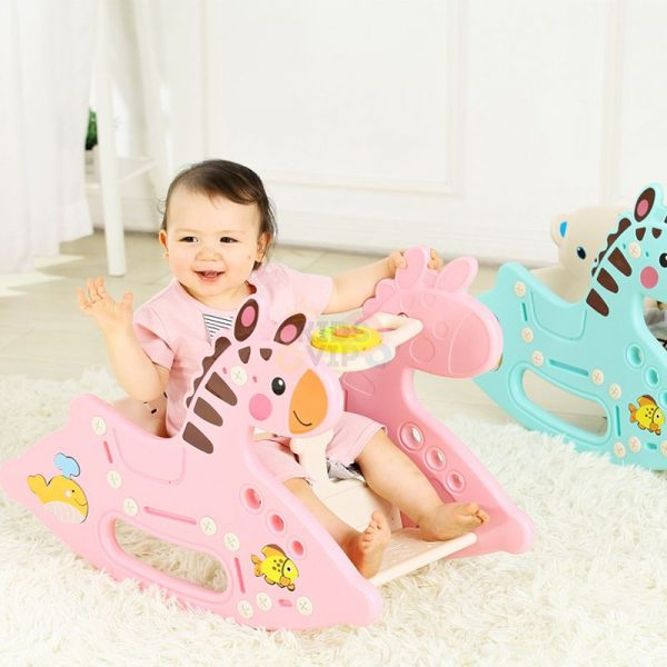 kidsvip rocking deer zeebra chair toddlers infants pink 8