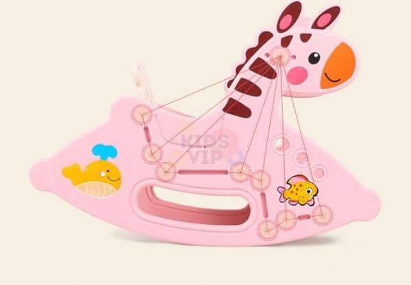kidsvip rocking deer zeebra chair toddlers infants pinkg