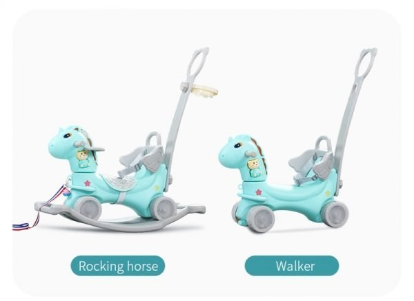 kidsvip rocking driving horse with hand blue 32