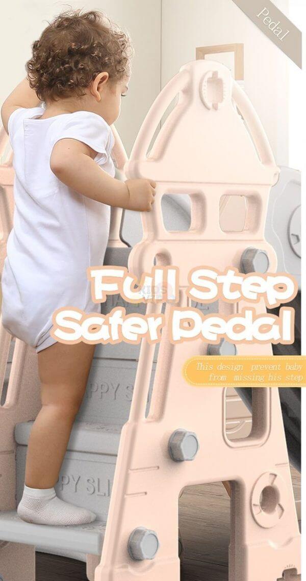 kidsvip tower swing slide basketball kids toddlers infants pink 10