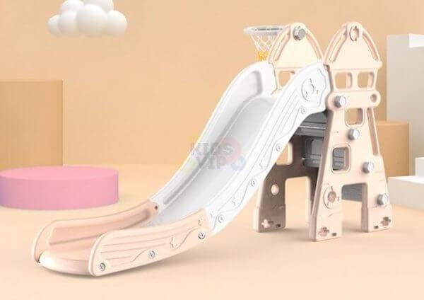 kidsvip tower swing slide basketball kids toddlers infants pink 11