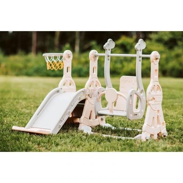 kidsvip tower swing slide basketball kids toddlers infants pink 15