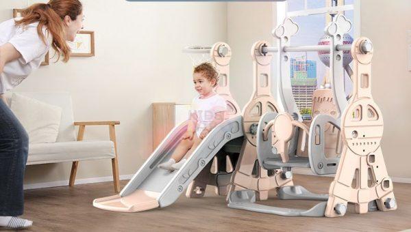 kidsvip tower swing slide basketball kids toddlers infants pink 7