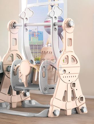 kidsvip tower swing slide basketball kids toddlers infants pink 8