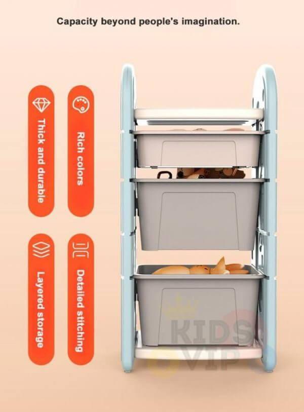 kidsvip toy books storage bins shelves kids room toddlers 22