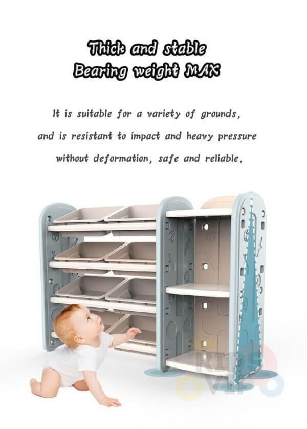 kidsvip toy books storage bins shelves kids room toddlers 3