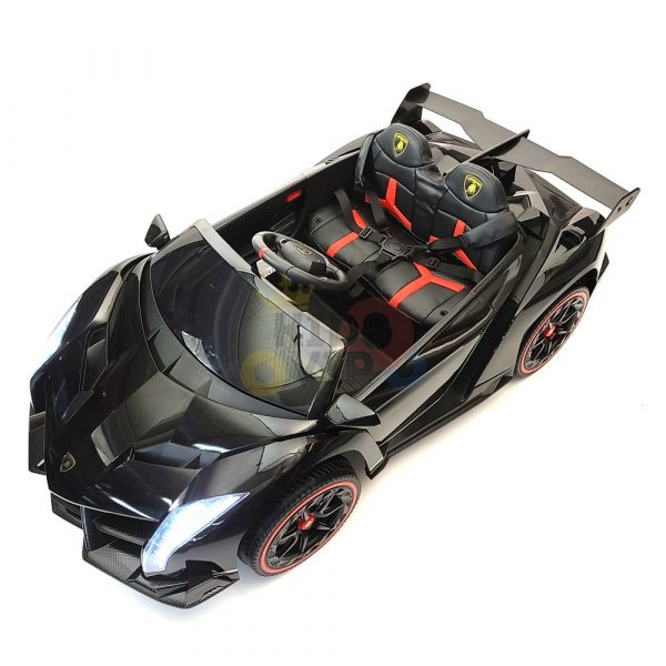 2 seats lamborghini ride on kids and toddlers ride on car 12v black 10