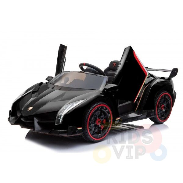 2 seats lamborghini ride on kids and toddlers ride on car 12v black 14