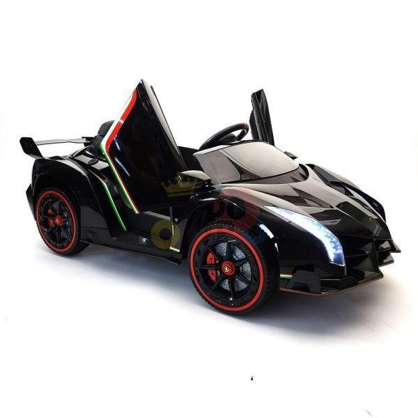 2 seats lamborghini ride on kids and toddlers ride on car 12v black 44