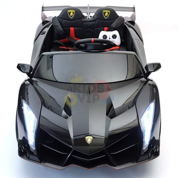 2 seats lamborghini ride on kids and toddlers ride on car 12v black 54