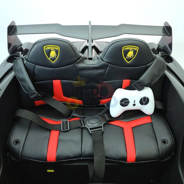 2 seats lamborghini ride on kids and toddlers ride on car 12v black 58