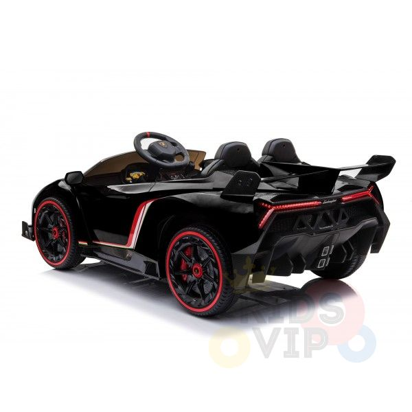 2 seats lamborghini ride on kids and toddlers ride on car 12v black 7