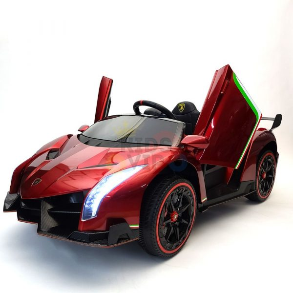 2 seats lamborghini ride on kids and toddlers ride on car 12v red 13