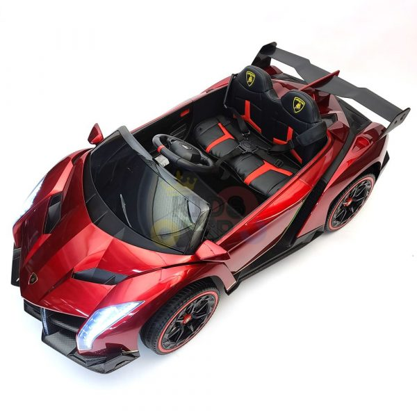2 seats lamborghini ride on kids and toddlers ride on car 12v red 16