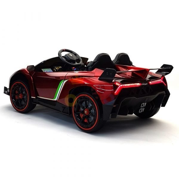 2 seats lamborghini ride on kids and toddlers ride on car 12v red 25