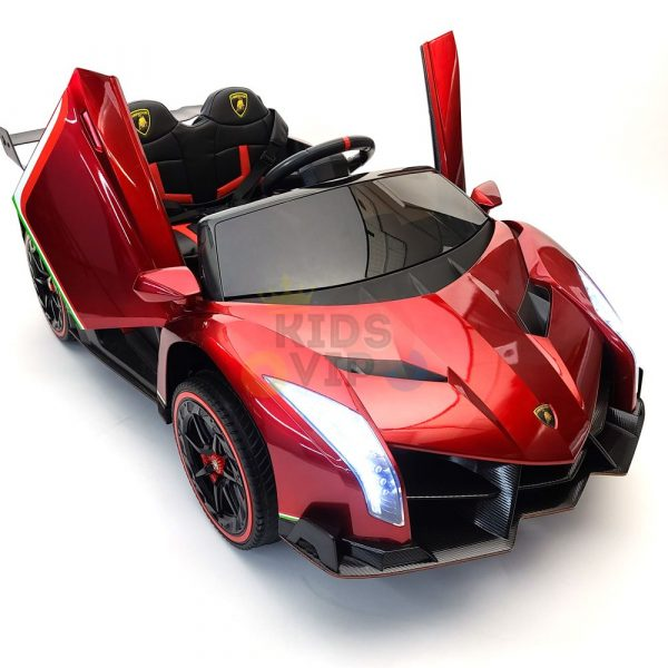 2 seats lamborghini ride on kids and toddlers ride on car 12v red 66