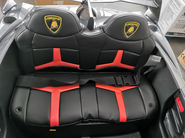 2 seats lamborghini ride on kids and toddlers ride on car 12v silver 5