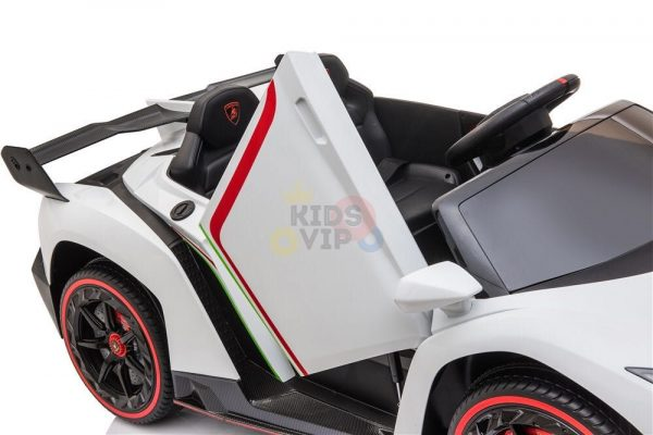 2 seats lamborghini ride on kids and toddlers ride on car 12v white 1