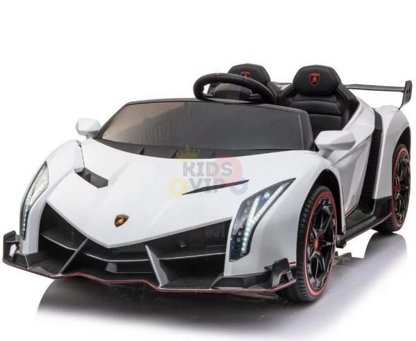 2 seats lamborghini ride on kids and toddlers ride on car 12v white 10