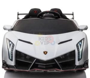2 seats lamborghini ride on kids and toddlers ride on car 12v white 14