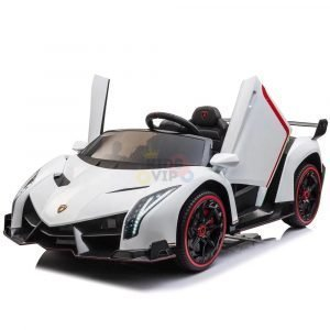 2 seats lamborghini ride on kids and toddlers ride on car 12v white 2