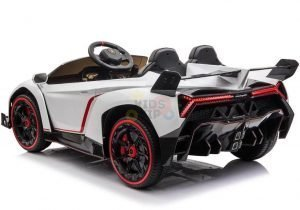 2 seats lamborghini ride on kids and toddlers ride on car 12v white 4
