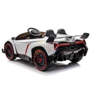 2 seats lamborghini ride on kids and toddlers ride on car 12v white 6
