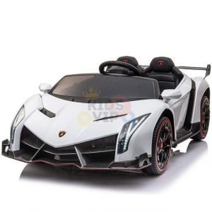 2 seats lamborghini ride on kids and toddlers ride on car 12v white 7