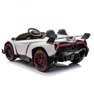 2 seats lamborghini ride on kids and toddlers ride on car 12v white 8