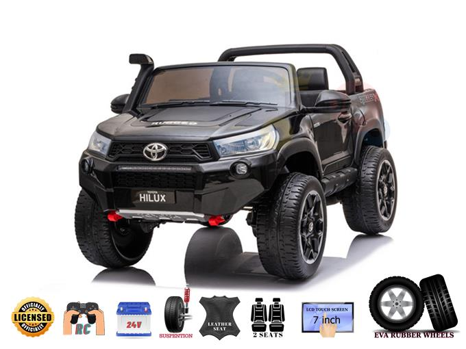 Official Luxury Edition 2 Seats 24V Toyota Hilux Kids Ride on Truck, RC