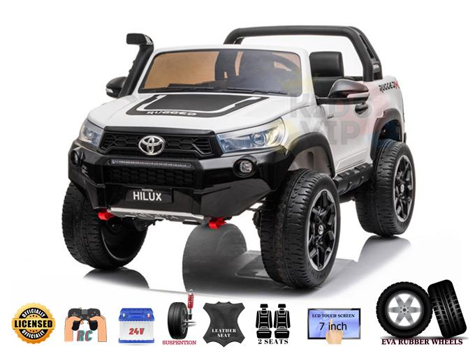 2 Seats Toyota Hilux 24V Ride On Car with Remote Control, MP4 Edition