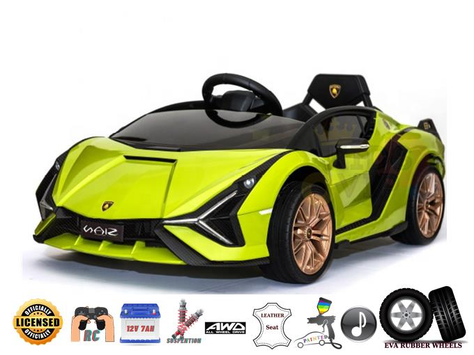 Sport Edition Lamborghini Sian 4WD 12V Kids and Toddlers Ride On Car