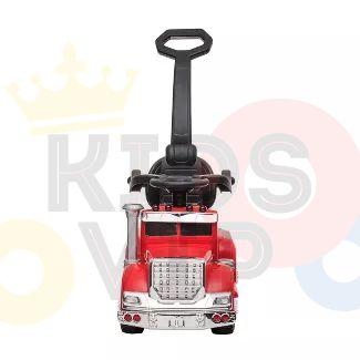 kids vip ride on push truck handle red 1