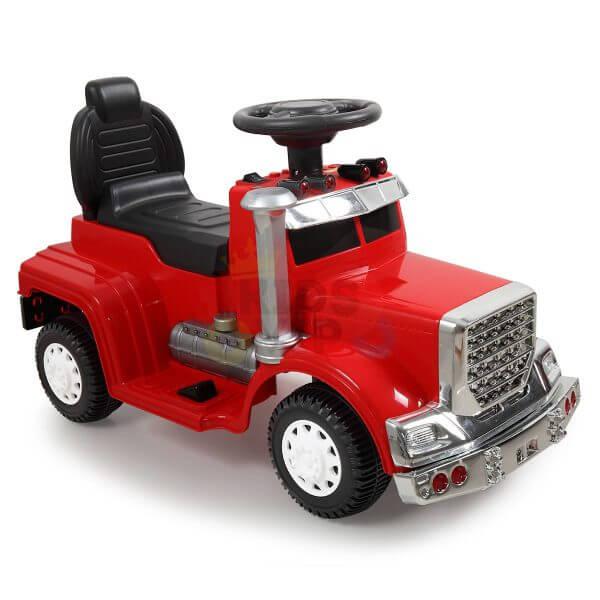 kids vip ride on push truck handle red 10