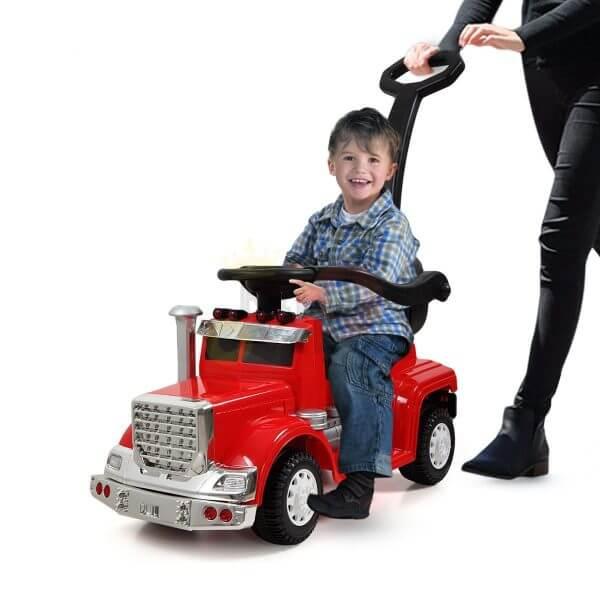 kids vip ride on push truck handle red 11