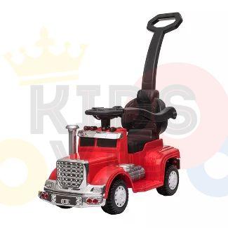 kids vip ride on push truck handle red 2