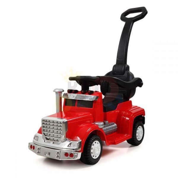 kids vip ride on push truck handle red 23