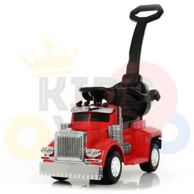 kids vip ride on push truck handle red 4